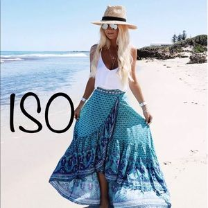 ISO=>Spell and the Gypsy Sunset Road Wrap Skirt